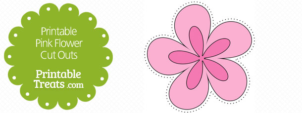 Free spring flower cutouts flowers healthy free printable pink flower cut outs printable pink flower cut outs printable treats mightylinksfo