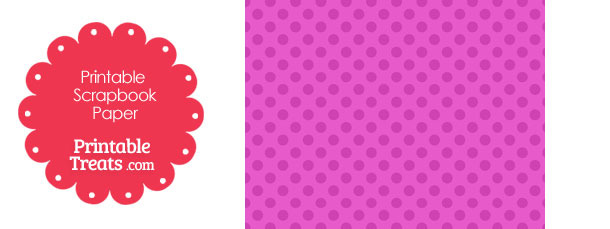 Printable Pink Polka Dot Paper from PrintableTreats.com