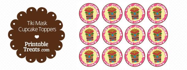 free-printable-pink-tiki-mask-cupcake-toppers