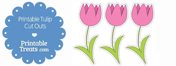 photo regarding Tulip Printable titled Printable Crimson Tulip Reduce Outs Printable