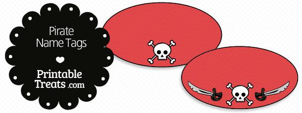 Printable Pirate Name Tags Treats