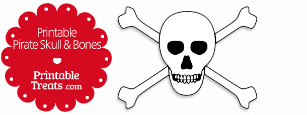Printable Pirate Skull And Bones Printable Treatscom
