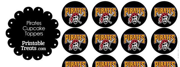 Printable Pirates Logo Cupcake Toppers Printable Treats Com