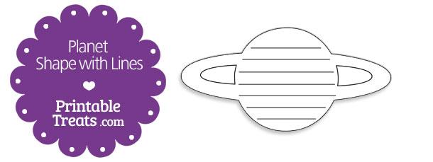 printable planet shape with lines printable treats com