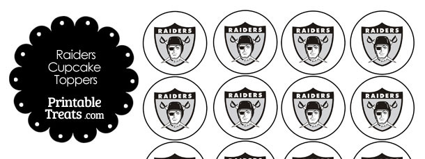 Printable Raiders Logo Cupcake Toppers