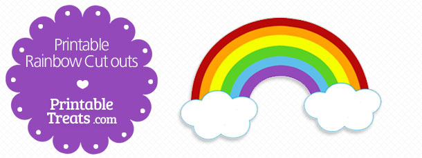 picture relating to Free Printable Rainbow called Printable Rainbow Cutouts Printable