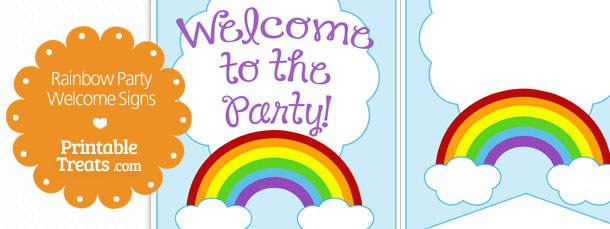 photograph relating to Free Printable Welcome Sign titled Printable Rainbow Welcome Indications Printable