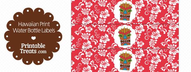 free-printable-red-hawaiian-print-water-bottle-labels