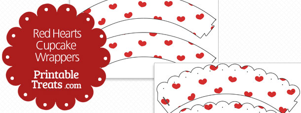 photograph relating to Printable Red Hearts named Printable Pink Hearts Cupcake Wrappers Printable