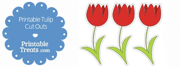 free-printable-red-tulip-cut-outs