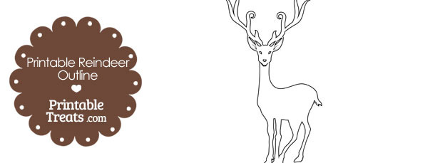 printable reindeer outline printable treats com