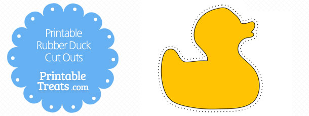 graphic relating to Rubber Ducky Printable identified as Printable Rubber Duck Slice Outs Printable