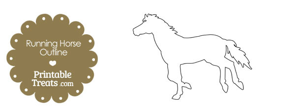 Outline Of Horse Printable Best Pin By Muse Printables On Printable