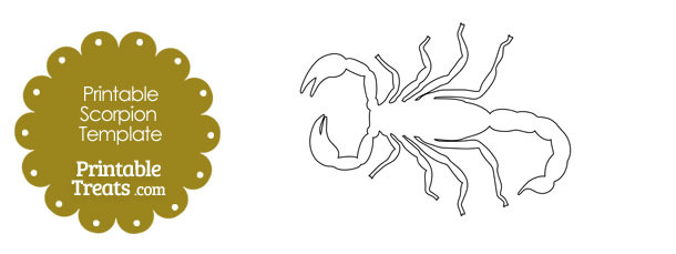 Printable Scorpion Shape Template — Printable Treats.com