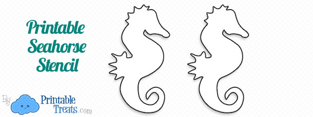 picture regarding Seahorse Printable named Printable Seahorse Stencil Printable