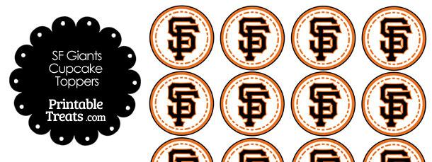 image regarding Printable Giants Schedule referred to as Printable SF Giants Emblem Cupcake Toppers Printable