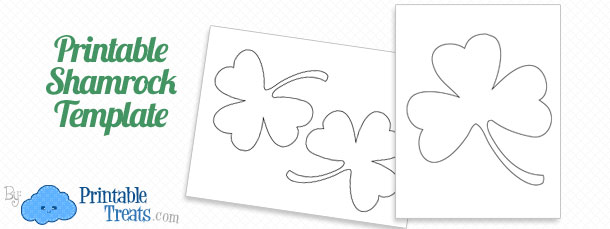 Printable Shamrock Template  Printable TreatsCom