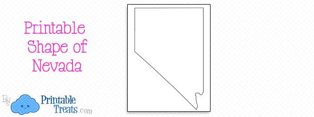 Printable Shape Of Nevada Printable Treats Com