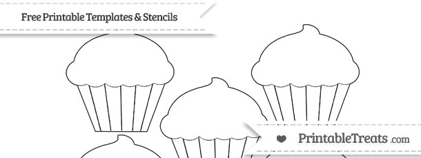 Free Printable Small Cupcake Template