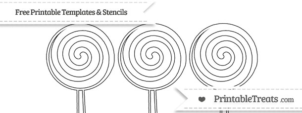 photo about Lollipop Template Printable named Cost-free Printable Very little Swirly Lollipop Stencil Printable