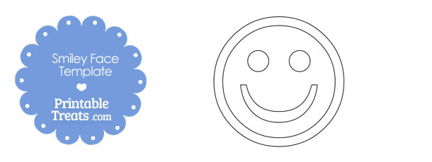 Printable Smiley Face Template Printable Treatscom