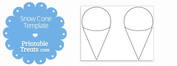 printable snow cone shape template printable treats com