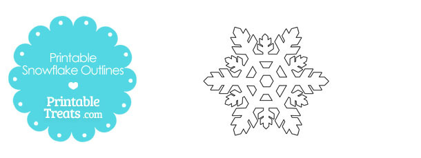 printable snowflake outlines printable treats com