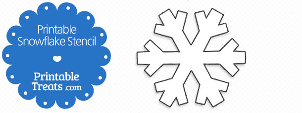image regarding Snowflakes Printable called Printable Snowflake Stencil Printable