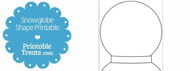 printable snow globe shape template  u2014 printable treats com