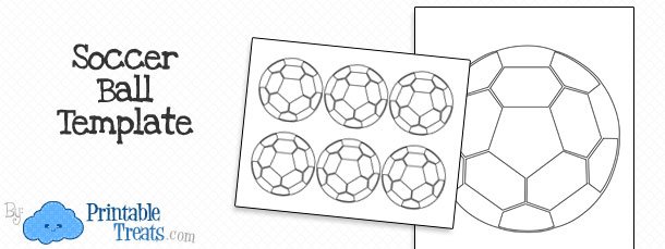 photo about Free Printable Soccer Ball named Printable Football Ball Template Printable