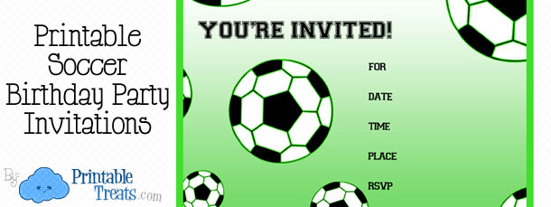 free printable soccer birthday party invitations printable treats com