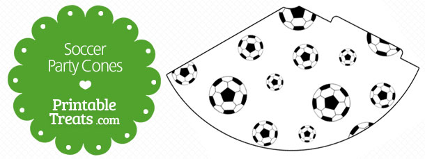 image relating to Soccer Printable called Printable Football Get together Cones Printable