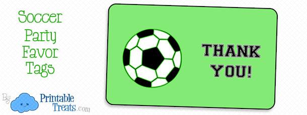 soccer party favor tags  u2014 printable treats com