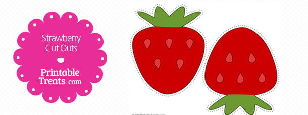 Printable Strawberry Template — Printable Treats.com