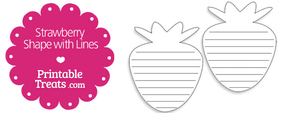 free-printable-strawberry-shape-with-lines