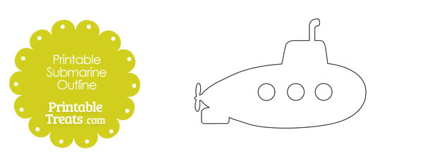 Printable Submarine Outline