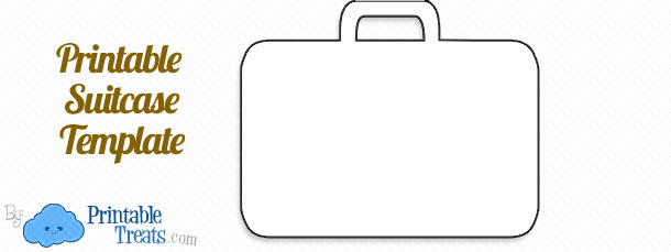 Free Printable Suitcase Template