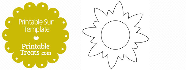 photograph about Printable Sun Template identified as Printable Sunshine Template Printable
