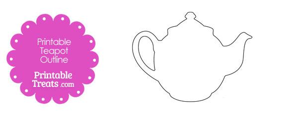 Printable Teapot Outline