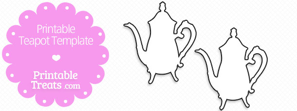 picture relating to Teapot Template Free Printable named Printable Teapot Stencil Printable