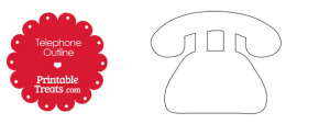 Printable Telephone Shape