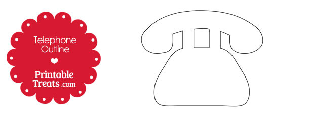 Printable Telephone Shape — Printable Treats.com