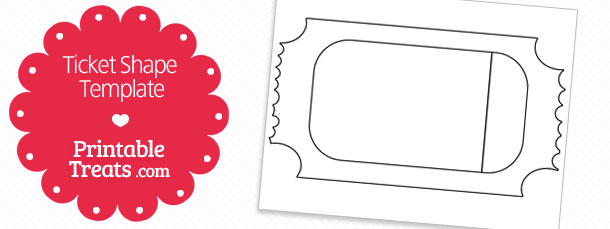Printable Ticket Shape Template Printable Treats – Ticket Template for Pages
