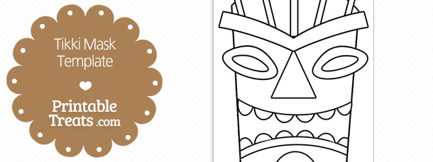 Printable Tiki Mask Template — Printable Treats.com