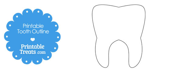 graphic regarding Printable Tooth identified as Printable Enamel Define Printable