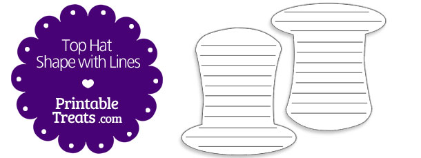 free-printable-top-hat-shape-with-lines