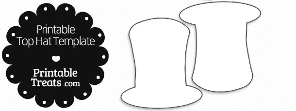 printable top hat template printable treats com