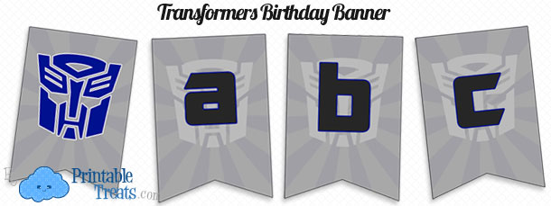 picture relating to Transformer Birthday Invitations Printable Free referred to as Printable Transformers Birthday Banner Printable