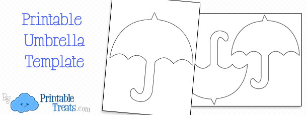 Printable Umbrella Template Printable Treats – Umbrella Template