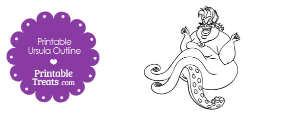Printable Ursula Outline Printable Treats Com